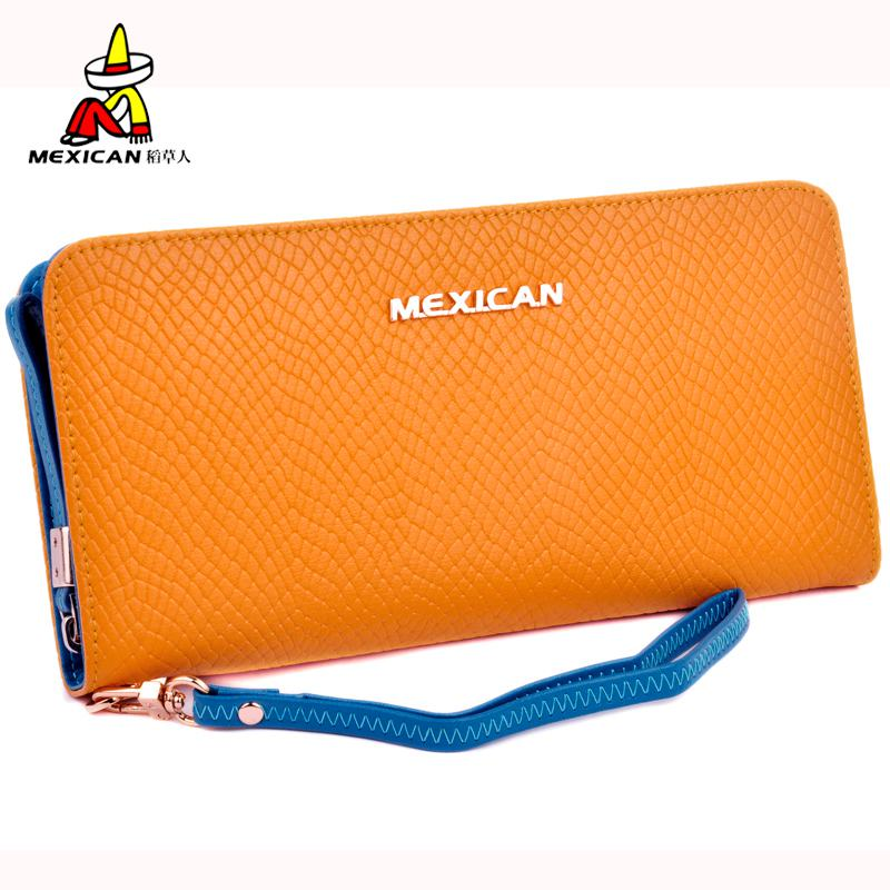 Mexican/scarecrow ladies handbag female models zipper wallet long section of fashion leather hand bag ladies clutch bag
