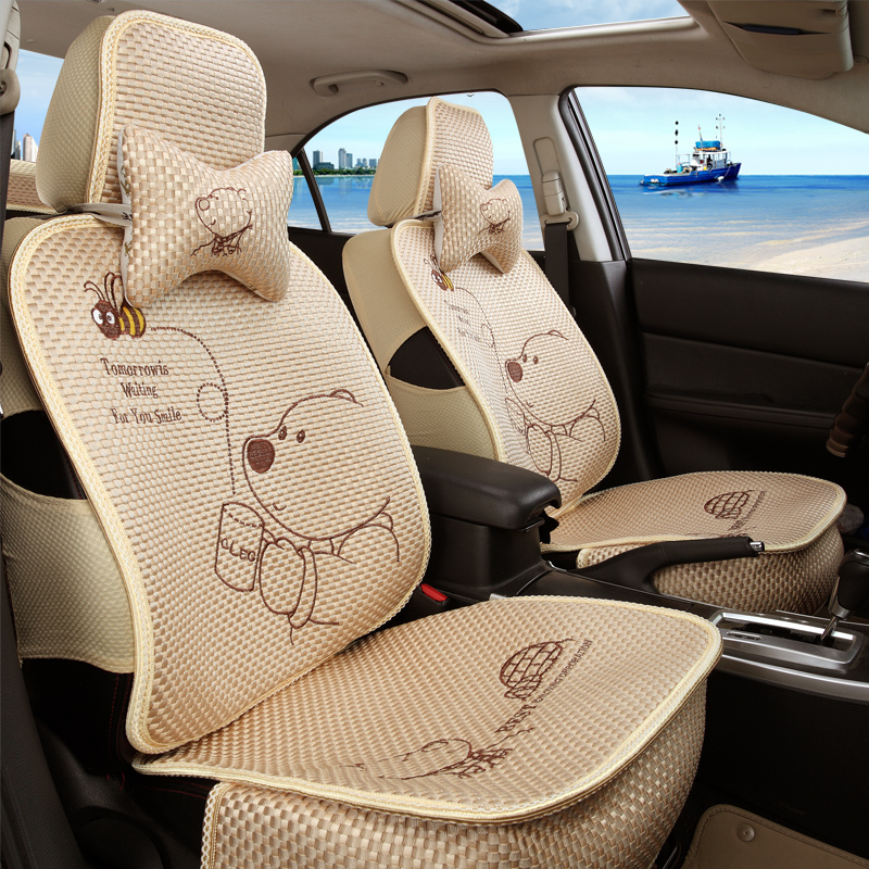 Mg mg3sw ms. cute cartoon winnie the seat cover seat cover special summer ice silk seat covers car kits