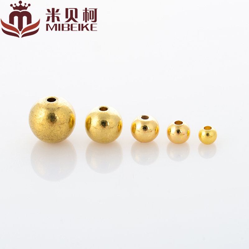 Mi beike-3/4/5/6/8/10mm brass beads prime bead spacer beads loose beads beads beads children Rosary beads