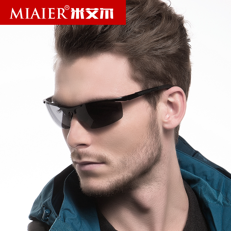 Miai er male polarized sunglasses driving mirror sunglasses aluminum magnesium sunglasses sport fishing square glasses