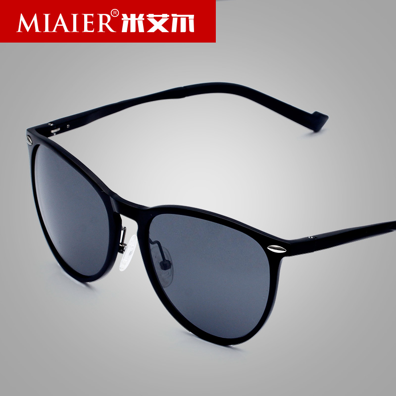Miai er new sunglasses male polarized sunglasses driving mirror personality influx of people men sunglasses aluminum magnesium glassframe