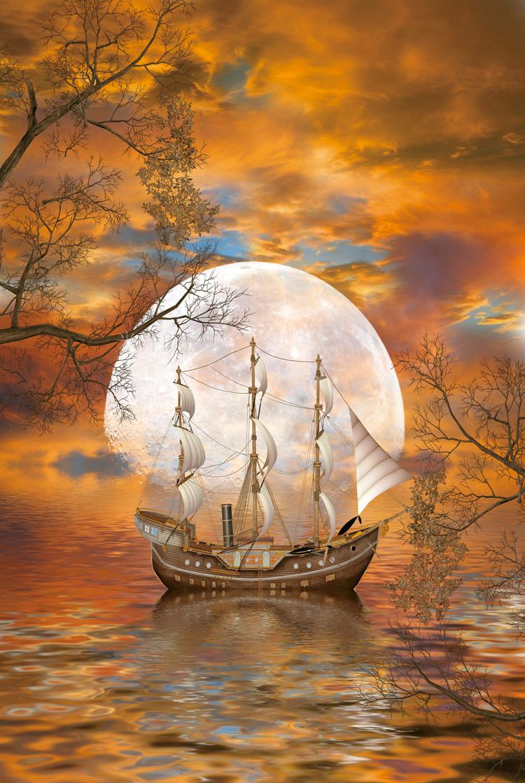 Michelangelo woodiness moon ship 5000 adult jigsaw puzzle 500/1000/2000 children's educational toys force