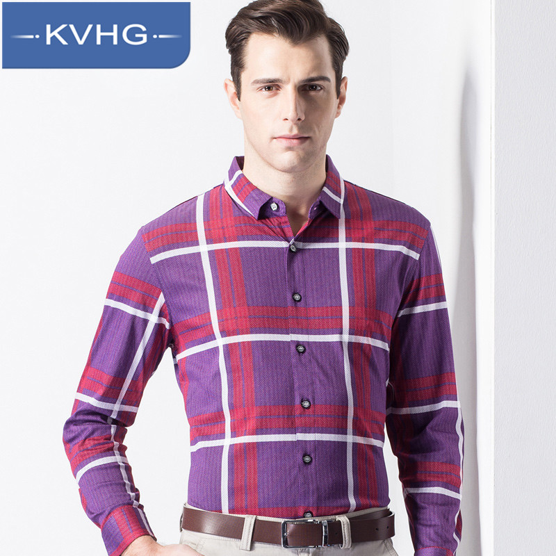 Middle-aged father loaded iron kvhg fashion 2016 new business casual loose long sleeve collar shirt tide 4092