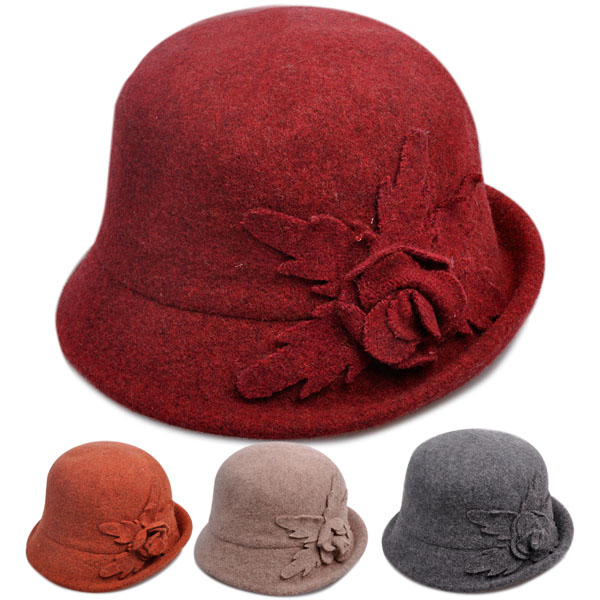 Middle-aged lady hat autumn and winter days ms. middle-aged mom ceremony hat dome cap bucket hats wool hat warm hat