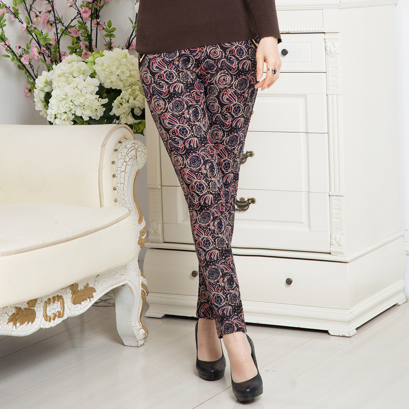 Middle-aged mom pants women 40-50-year-old middle-aged women dress autumn autumn was thin stretch pants casual trousers