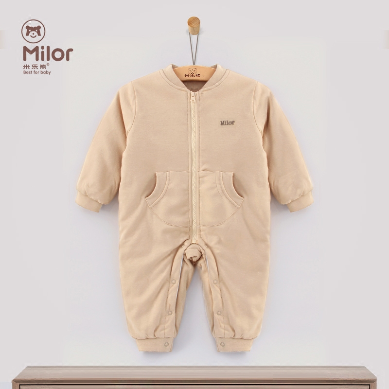 Miller bear baby clothes autumn winter clothes newborn baby coveralls folder thick cotton romper out clothes