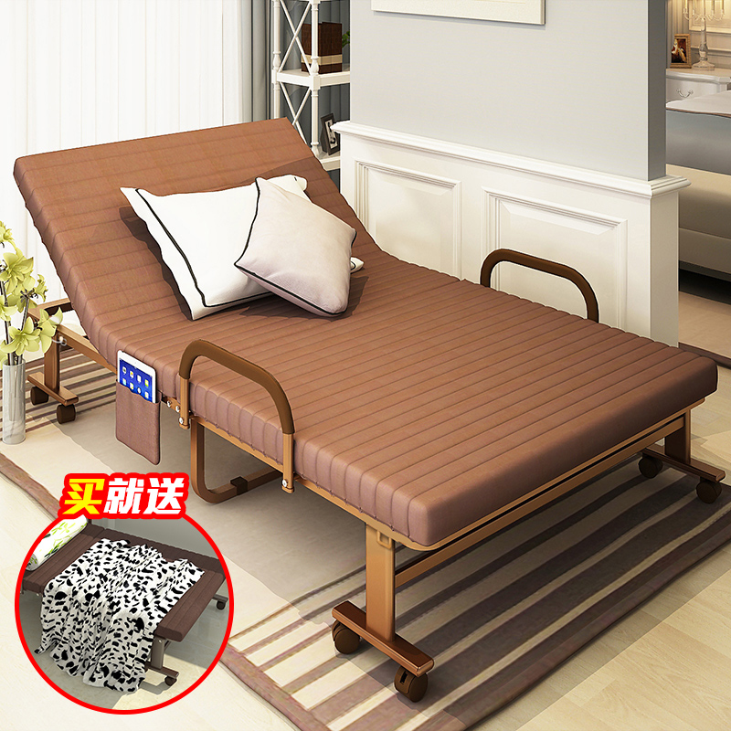 Million of reinforced folding bed linen person office nap bed double bed 1.2 m folding bed siesta bed cot