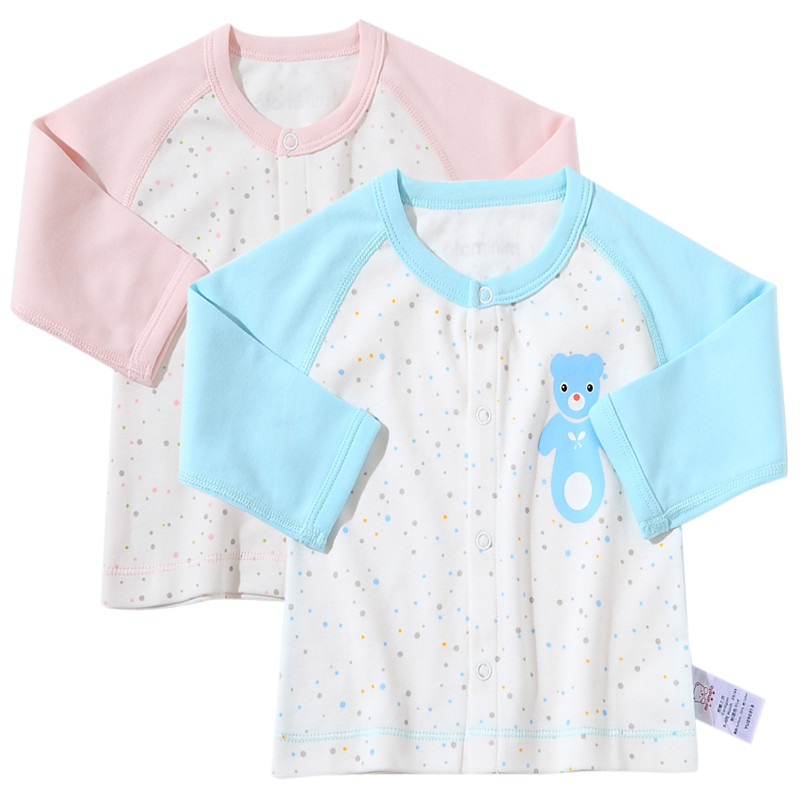 Mimi small infant cotton underwear spring and autumn childrenwear 0-1-2-3-year-old male and female baby underwear baby qiuyi