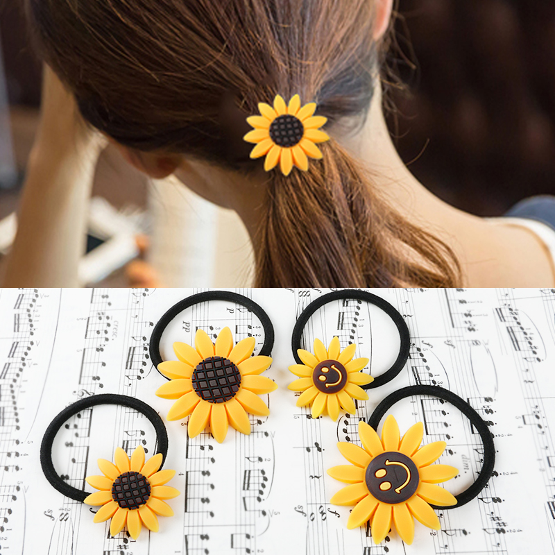 Mina si korean version of harajuku soft sister sunflower cute flower hair band hair accessories hair jewelry hair rope hair ring tousheng headdress