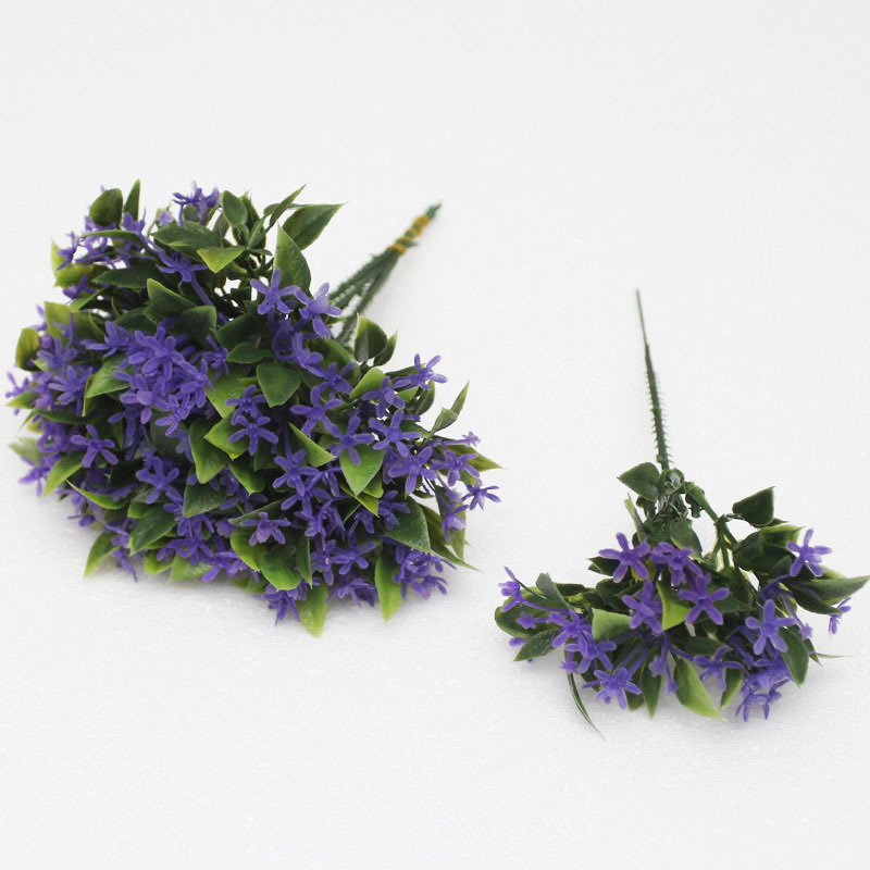 Mini plastic flower artificial flower lilac silk flower artificial flowers single branch can be free with a suit artificial flowers