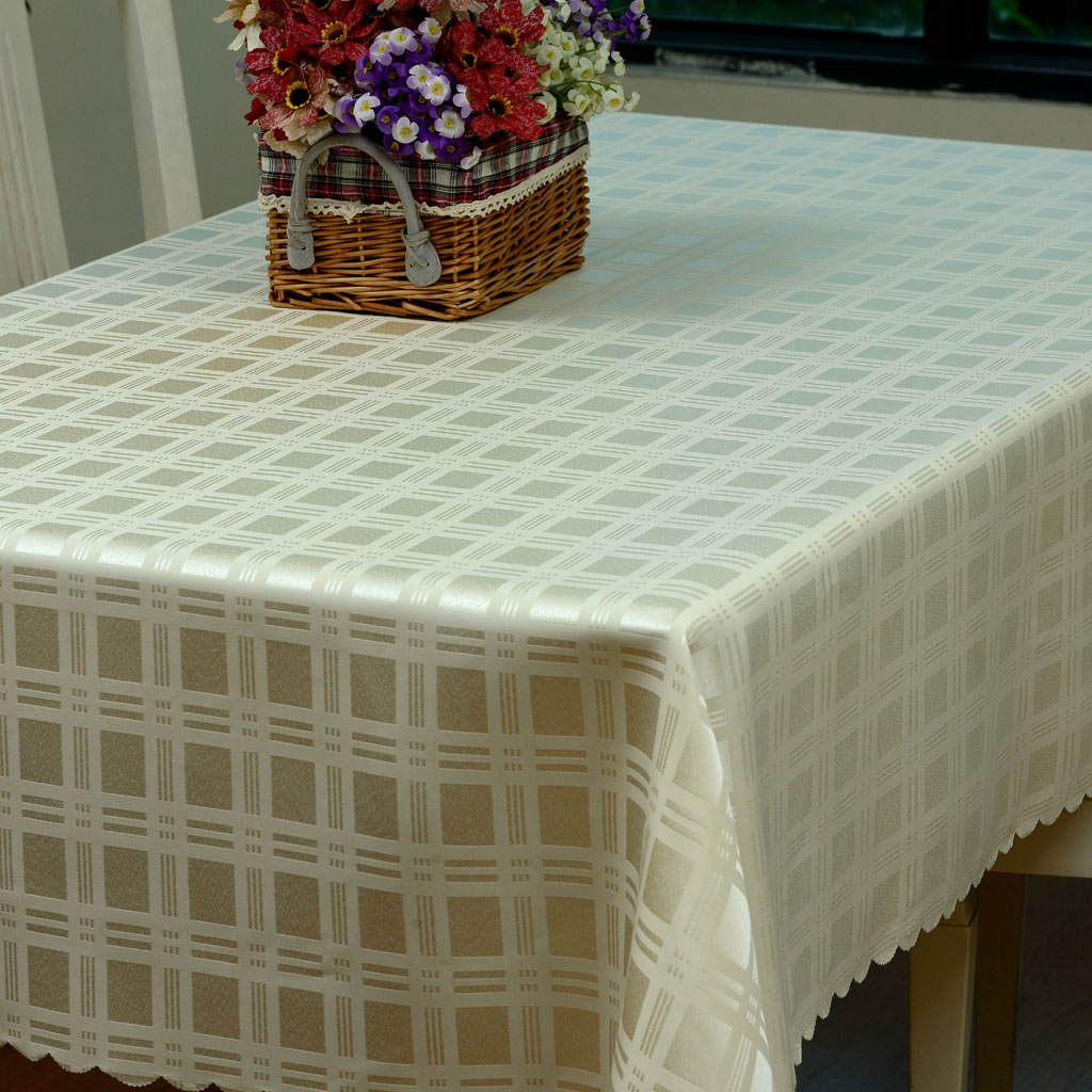 Minimalist modern home plaid double jacquard lace tablecloth upscale fashion coffee table cloth tablecloth restaurant bar