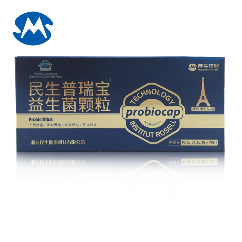 Minsheng puri treasure brand probiotic particles 1.5g/bag * 7 bags