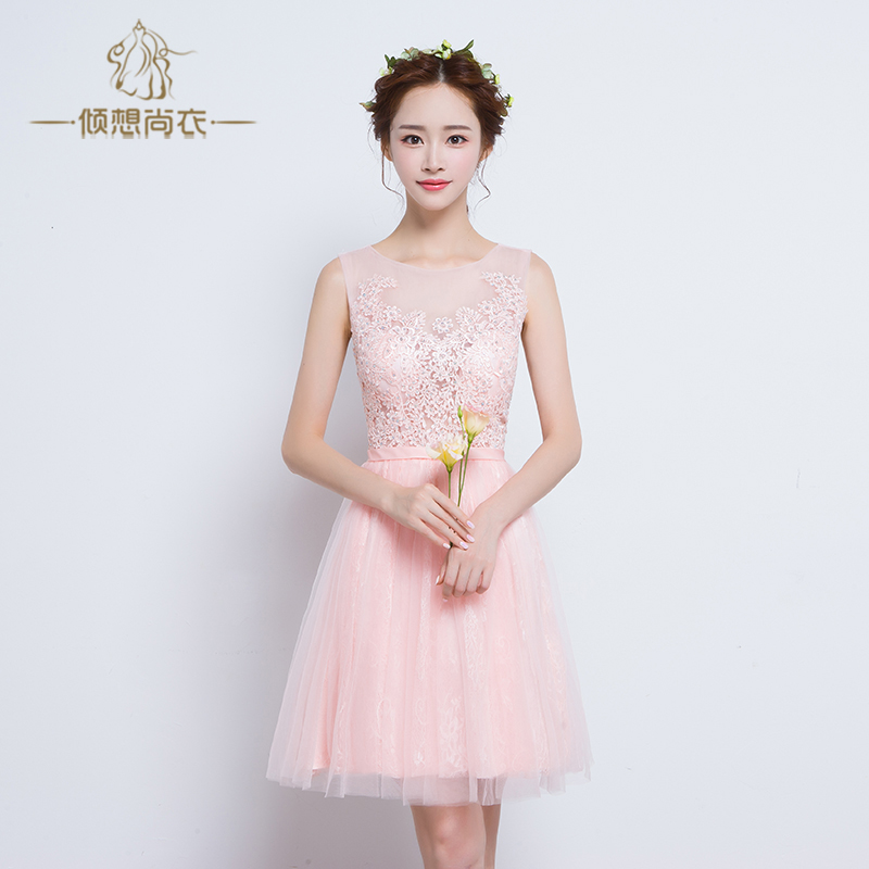 Mission bridesmaid dresses 2016 new bridesmaid dress bridesmaid dress short paragraph korean sisters skirt wedding dress spring and summer