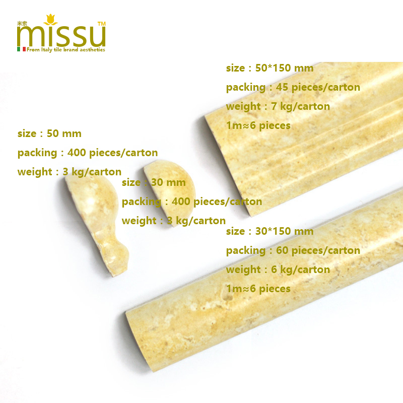 Missu tile 150mm italy imported glaze yellowæ±è…°corner kitchen wall bathroom wall background