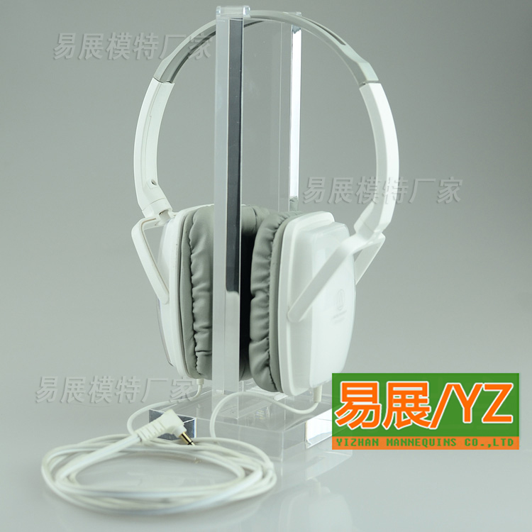 Missun brand transparent fashion earphone headset display counter showcase showcase display rack shelf