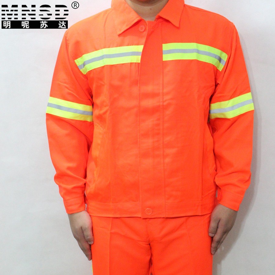 Mnsd construction sanitation overalls reflective safety clothing reflective vests reflective orange suit road kit
