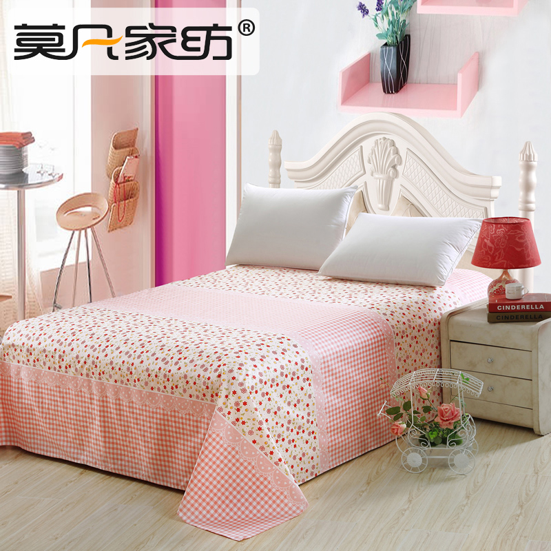 Mo fan textile cotton linens single double thick sheets thick cotton twill single student princess shipping