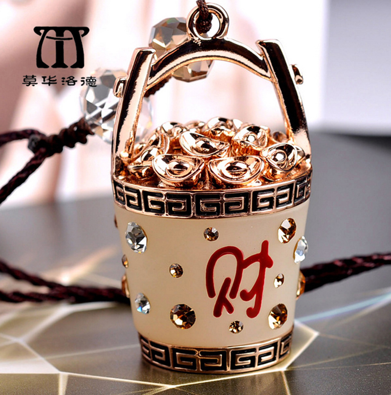 Mo hua lord car pendant lucky barrel crystal diamond ornaments car car accessories decorations