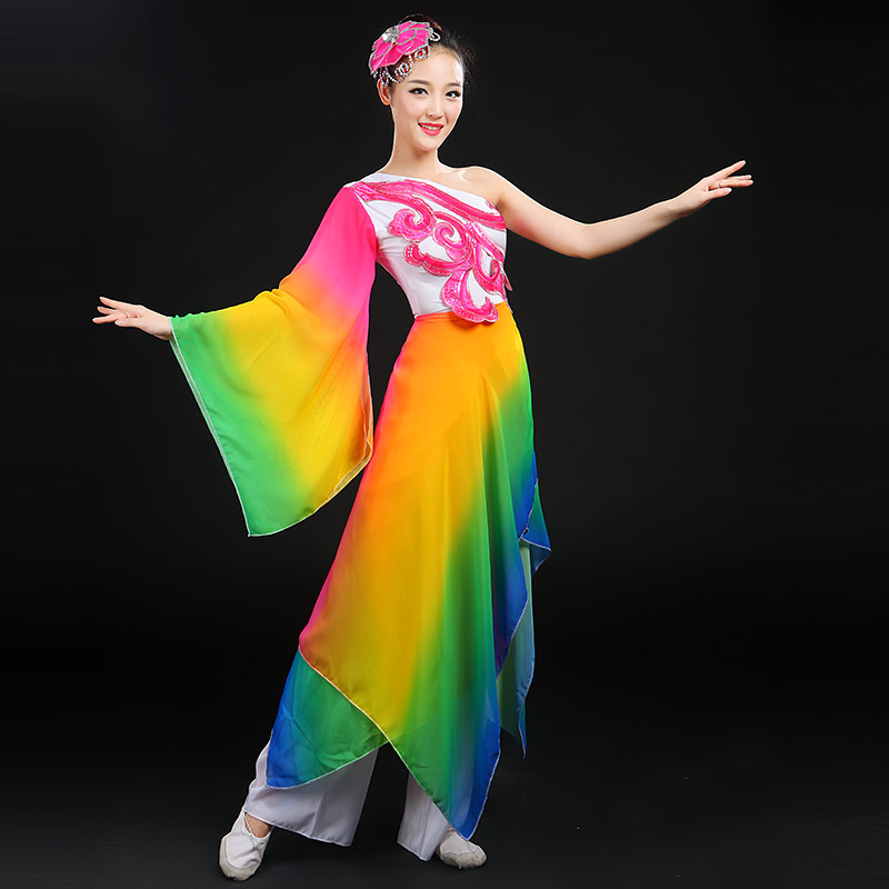 43f46cecf Get Quotations · Modern dance costumes opening dance clothes younger  middle-aged fan chinese style stage costumes dance