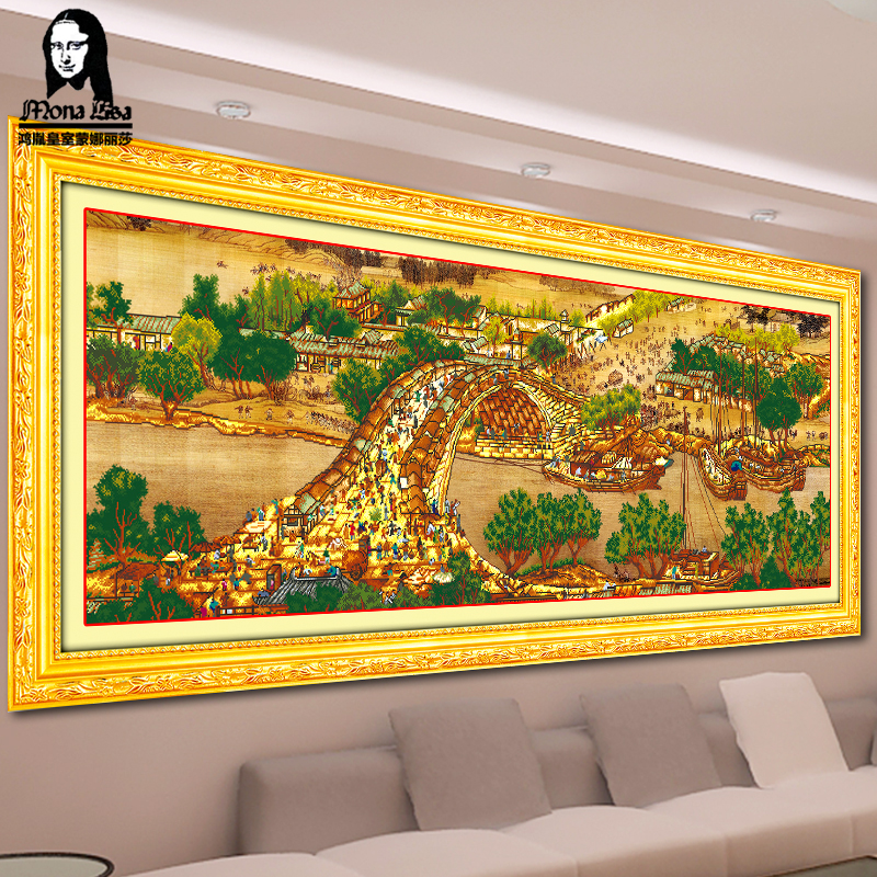 Mona lisa 5d diamond diamond embroidery painting full of diamond drilling masonry painting riverside stitch around the king diamond embroidery stitch new living room