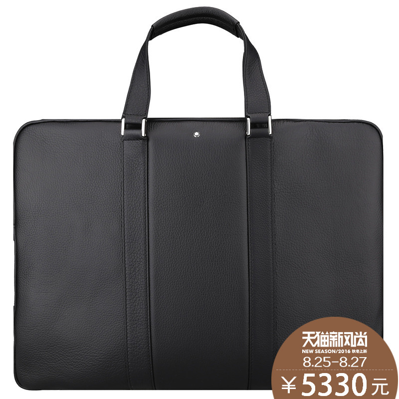 Montblanc/montblanc men taipan soft grain pattern series briefcase bag 111817 113298