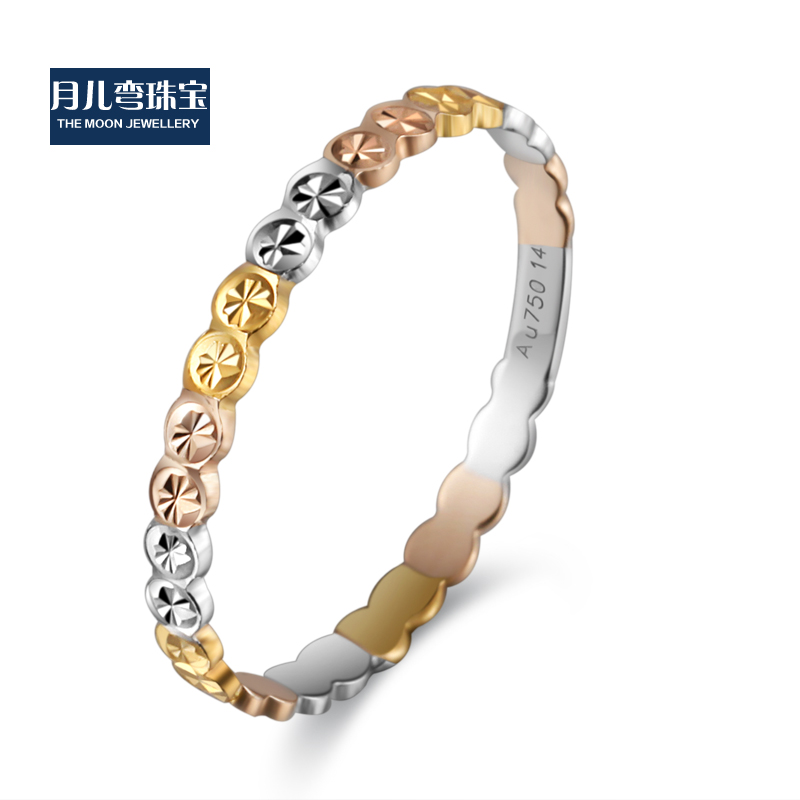 Monthly child curved k gold platinum rose gold color gold ring gold ring stars tail ring men and women of the new no. 8