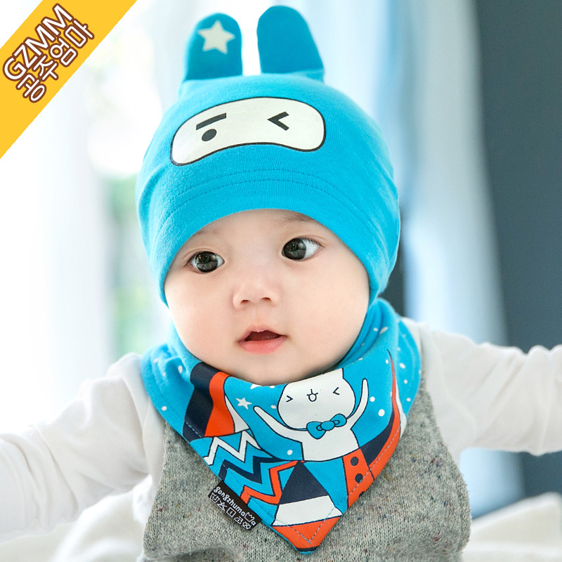 Months for men and women spring and autumn korean cotton baby hat baby hat hedging sling 1-2-year-old winter suit
