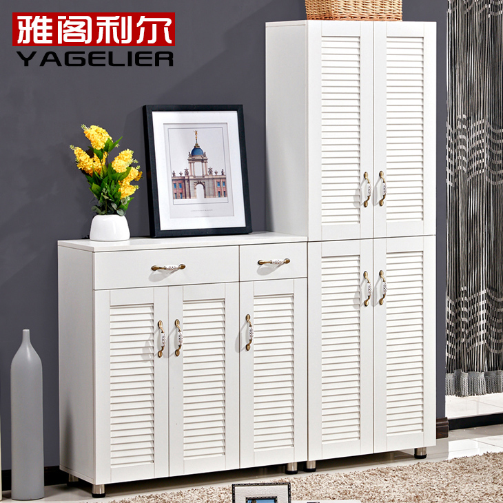 Montreal accord modern minimalist shoe cabinet entrance foyer cabinet combination of large capacity shoe lockers balcony blinds