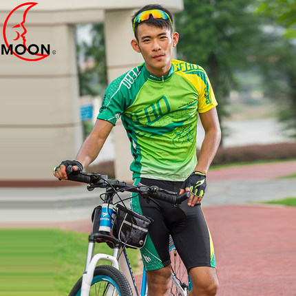 Moon own mountain bike riding clothes suit short sleeve bike mountain bike riding clothes riding pants riding equipment
