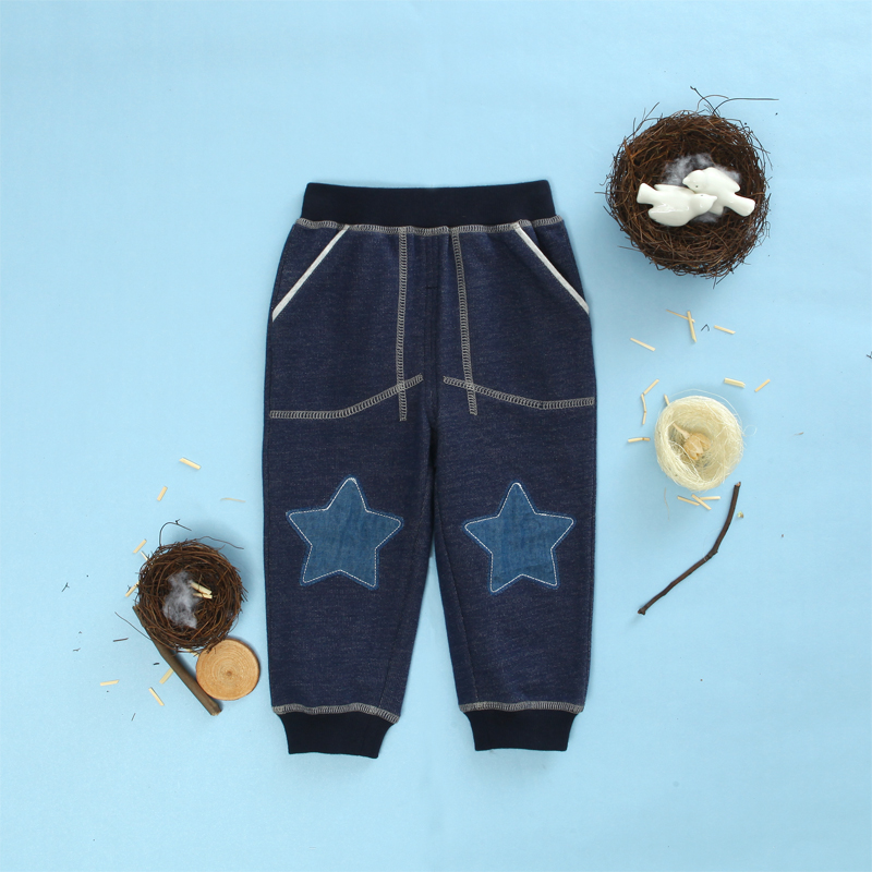 0d7cc7127 Get Quotations · Moonboat kids spring and autumn male and female baby  infant cotton trousers jeans child can open