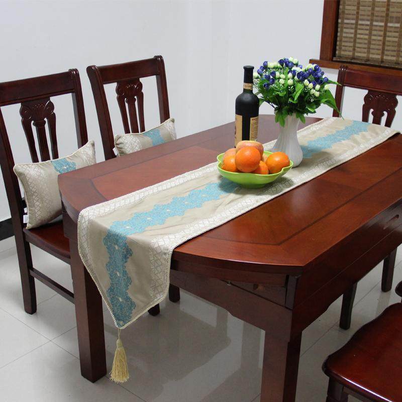 Moquette blue chinese style table cloth table runner table cloth table runner bed flag table cloth table flag custom