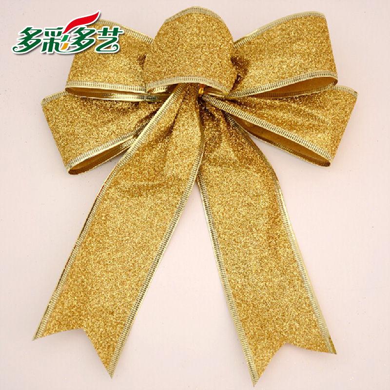 More art and colorful 25 cm/25 cm full charge upscale bow christmas decorations christmas tree pendant direct