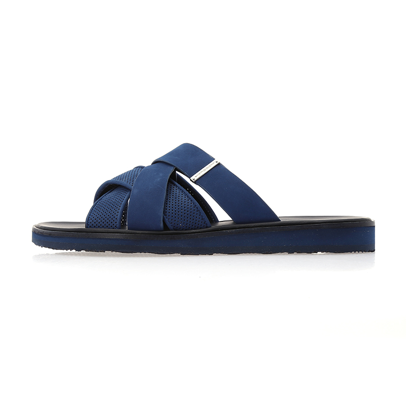 Moreschiæ©éæ¯base authentic men's imported italian leather men's sandals summer sandals slippers