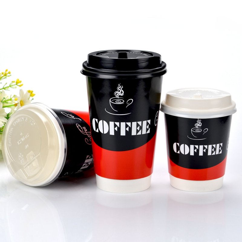 Morning glory 240/360/480ml pastelillos pack disposable coffee cup double against hot cup of tea cup 50 sets