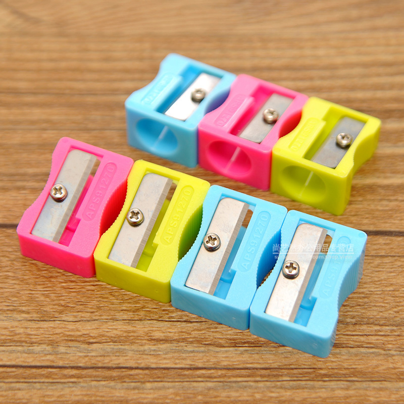 Morning student pencil sharpener pencil sharpener pencil sharpener hole pencil sharpener pencil sharpeners pencil student stationery colorful 91270