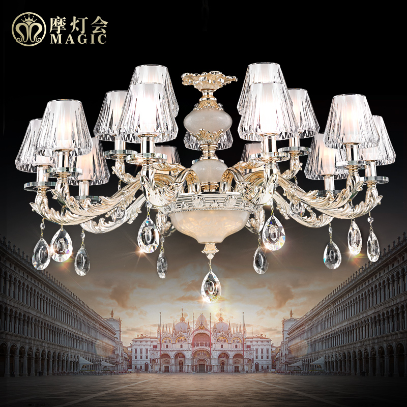 Moroccan lantern european lamps wrought iron chandelier nordic american restaurant bedroom modern living room lights crystal chandelier 8285