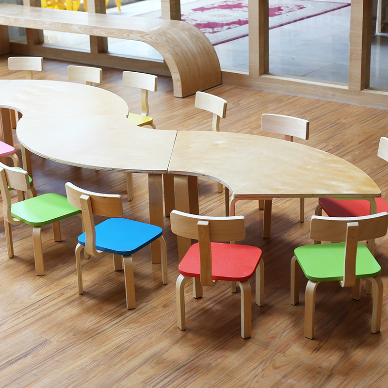 Get Quotations Mosaic Wooden Tables And Chairs Desks Kindergarten Early Childhood Training Courses Roundtable Combination Table Desk For