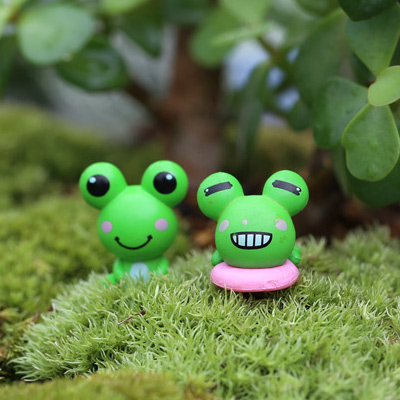 Moss micro landscape ecology bottle cartoon frog mini plant succulents small ornaments handmade diy materials