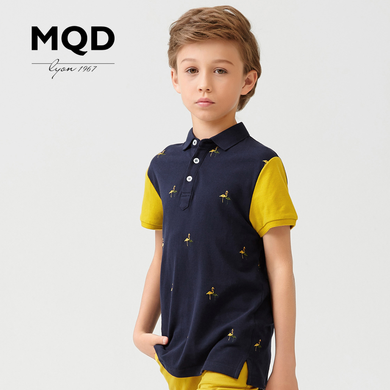 Mqd kids 2016 new boys short sleeve t-shirt big virgin polo shirt kids 2016 summer t-shirt