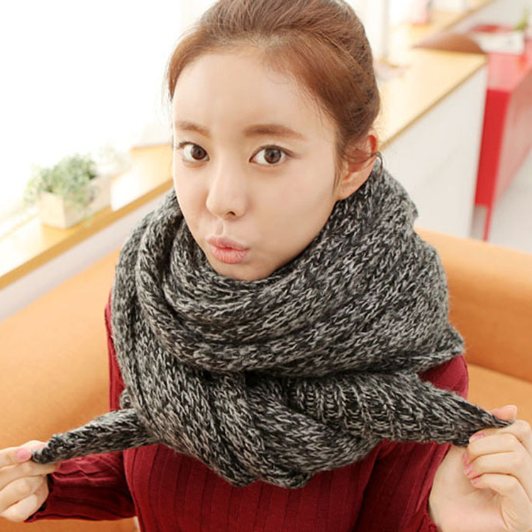 Ms. 2016 new autumn and winter long thick wool scarves knitted scarves scarf shawl dual dongdaemun