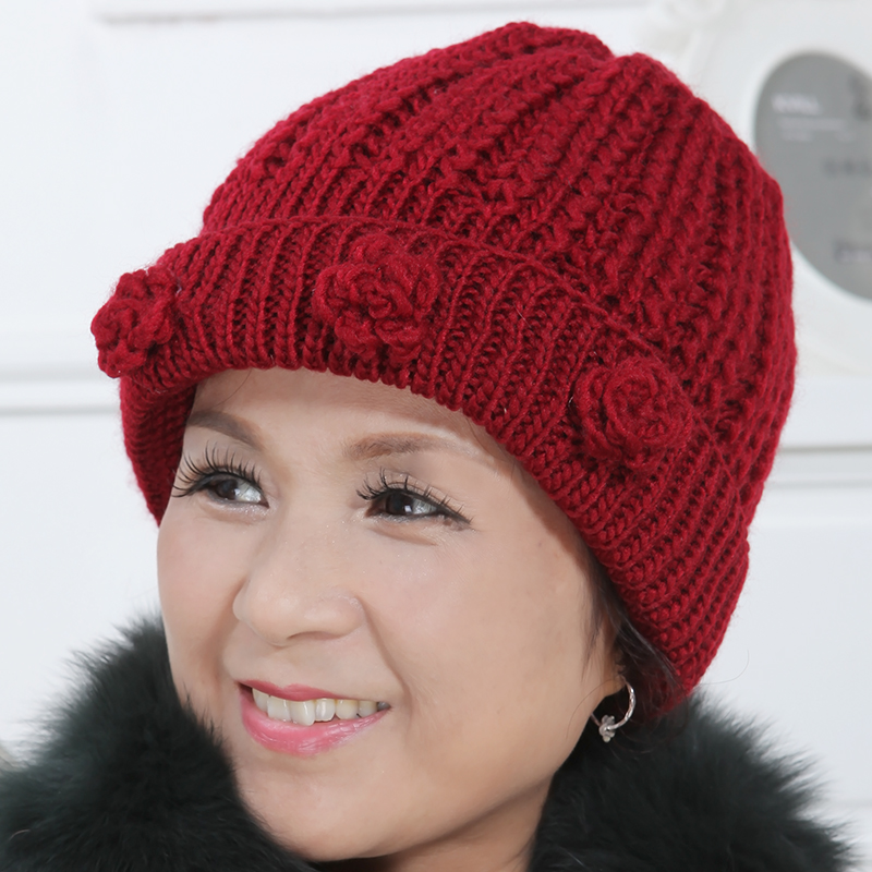 Get Quotations · Ms. autumn and winter days old hat in the elderly elderly  thick warm hat knitted 8ea0531e2cdc