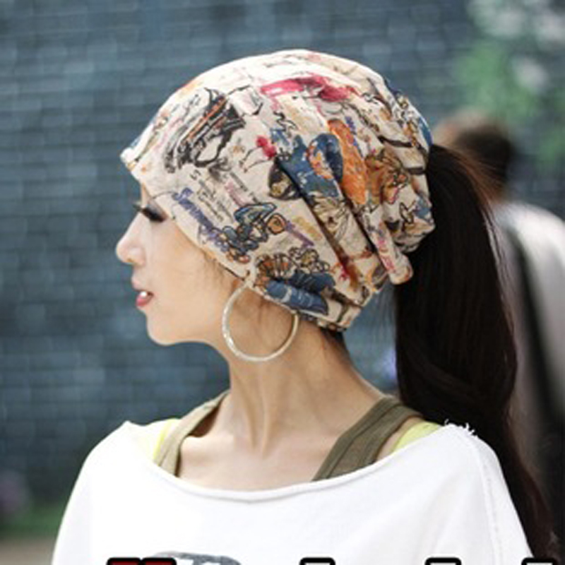 Ms. autumn and winter fashion men outdoor cotton intercropping head baotou hat scarf hat korean version of hip-hop hat tide