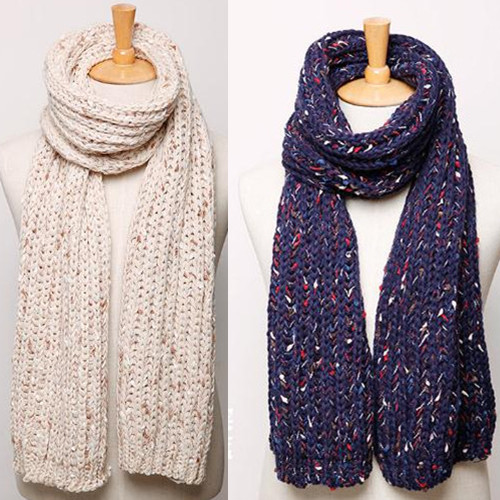 Ms. autumn and winter new men thick warm wool scarf korean version of the trend of mixed color couple models thick scarf