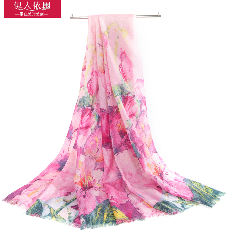 Ms. autumn and winter wool scarf wool scarf shawl dual long section of the spring and autumn inkjet printing wild scarf