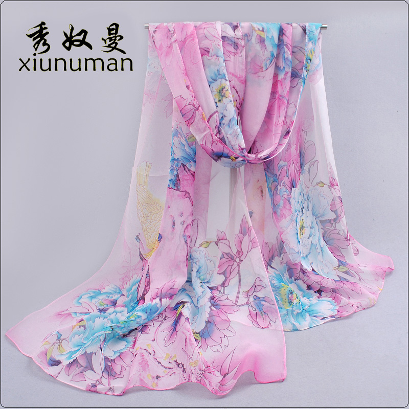 Ms. chiffon scarf long scarf thin scarf scarf female spring korean wild spring and summer sun beach scarf