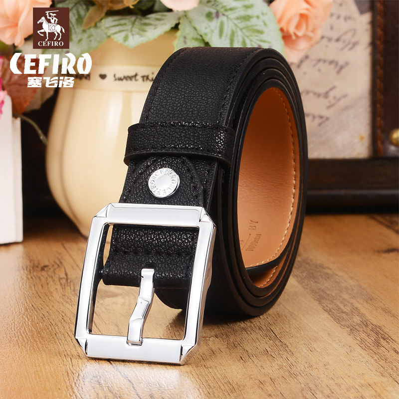 Ms. counter synchronization new cefiro genuine simple casual wild section belt candy color belt female