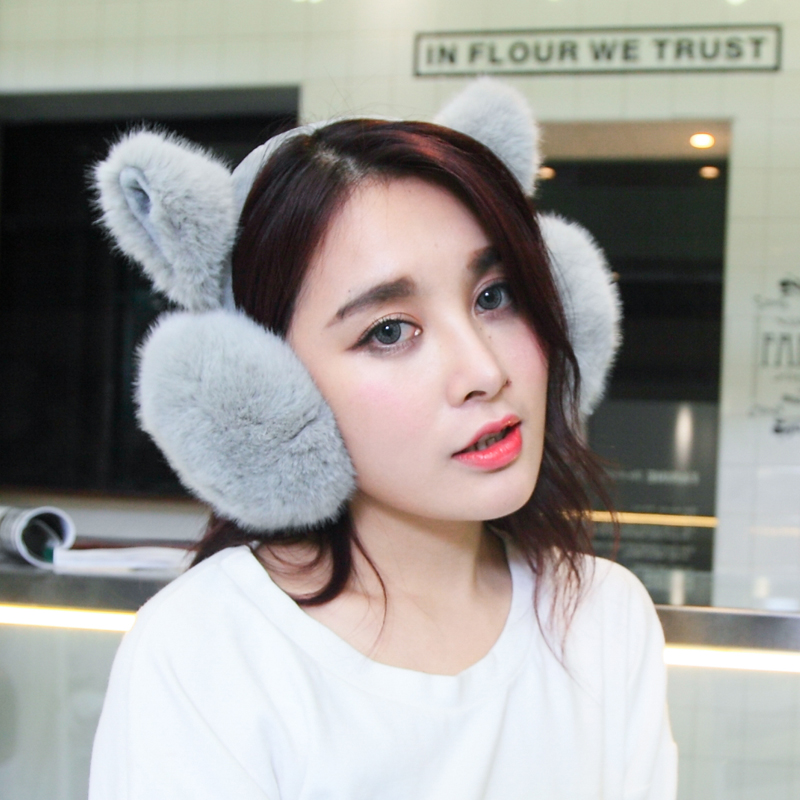 Ms. earmuffs earmuffs warm ear cover ear package plush ear protection earmuffs cover their ears warm winter flower sleeve winter female cartoon