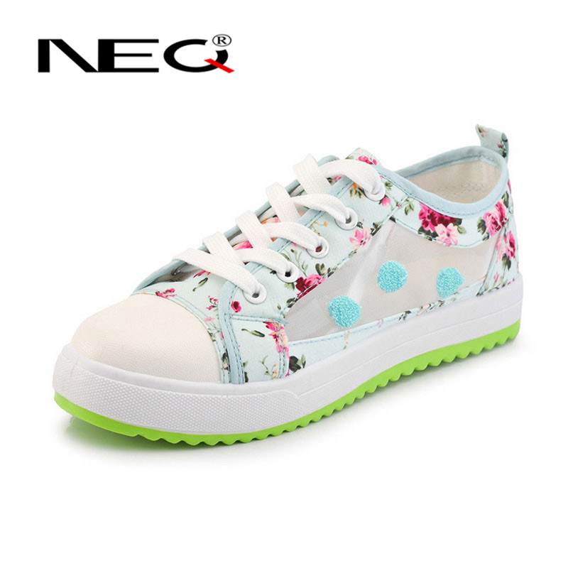 Ms. fashion casual flat shoes round reticularis NEQ2016 new wild deep mouth shoes to help low shoes 3734