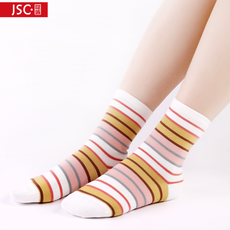 Ms. female cotton socks in tube socks autumn jian sheng fashion cute striped socks in tube socks autumn and winter socks