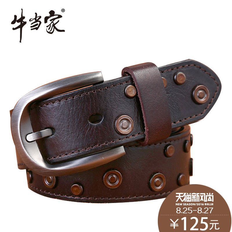 Ms. headed cow leather belt leather belt female cowhide leather belt ms. pure leather belt female 5135